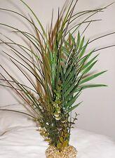 Artificial Aquarium PLANT 3-pc Arrangement STONE BASE (#395) Spike weed, Palm