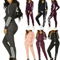 Women Ladies 2piece Hoodies Sweatshirt Joggers Lounge Wear Tracksuit Sport Suit