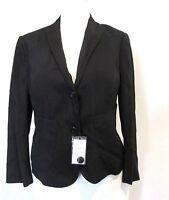 Roberto Menichetti Italy Black Silk Cropped Women Jacket Blazer Size:42 NWT