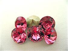 6 Rose Foiled Swarovski Crystal Chaton Stone 1088 39ss 8mm
