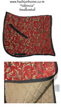 "SWALLOW TAIL  ""VALENCIA"" RED GOLD BAROQUE DRESSAGE SADDLE PAD"