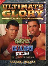1996 Juio Cesar Chavez vs Oscar De Lahoya  Boxing Porgram  EX+