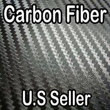 """96"""" X 60"""" 3D CARBON FIBER WRAP SHEET Sticker Overlay for Hood Roof Trunk Bumper"""