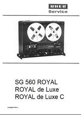UHER SG560 ROYAL, ROYAL DE LUXE MANUAL ON CD-R