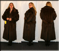 New Sable Dyed Fitch Fur Coat Size Large 10 12 L Efurs4less