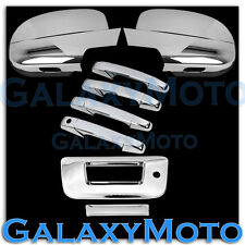 07-13 Chevy Silverado Chrome Full Mirror+4 Door Handle+Tailgate w.KH no CM Cover