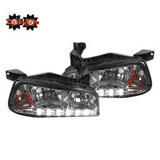06-10 Dodge Charger 1pc headlights Corner w/LED DRL Smoked Tinted Amber