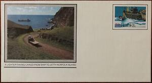 A Lighter Taking Cargo from Ship to Jetty, Norfolk Island Australia Envelope 5