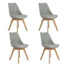 Set 4 sedie Grigio Tulip Design   Gambe  polipropilene Legno di faggio