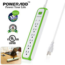 Poweradd 6 Outlet Power Socket Surge Protector Strip With Lightningproof US Ship