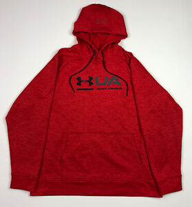 Under Armour Storm Hoodie Sweat Shirt Red PullOver Size Mens Large Comfy Active