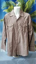Vt 90s 00s Ely Cattleman Pearl Snap Front Maroon Stripe Western Cowboy Shirt L