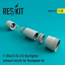 F-104 Starfighter (A/C/D/J/G) exhaust nozzle << Reskit RSU32-0022, 1:32 scale