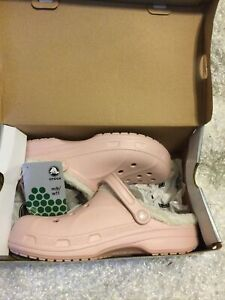 Crocs Ralen Fleece Lined Clogs Cotton Candy Pink Women's Size 11 New With Tags