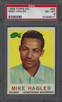 1959 Topps CFL Football Card #86 Mike Hagler Graded PSA 6