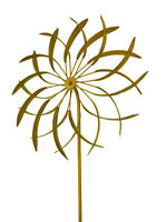Zeckos 18 in. Metal Garden Stake Flower Wind Spinner Sculpture