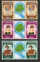 Nevis SC # 150-152 Diana Princess Of Wales 21St Birthday. Pairs , 5. MNH