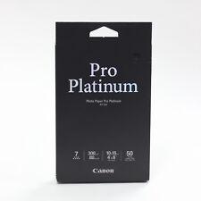 "Canon Pro Platinum Photo Paper Pt-101 4""x6"" 50 Sheets New Sealed"
