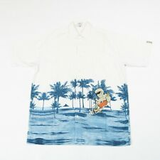 Vintage C&A Camisa Hawaiana | Hombres L | Botón Retro Aloha patrón gráfico de Surf