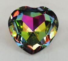 Crystal Diamond Jewel Paperweight 80 mm Heart - Dark Rainbow