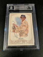 Richard Petty Beckett Signed Card Allen And Ginter # 61 Autographed