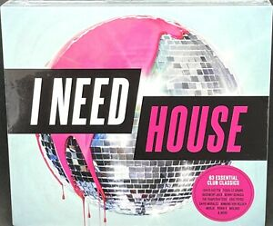I NEED HOUSE - VARIOUS ARTISTS, TRIPLE CD ALBUM, (2017) NEW / SEALED.