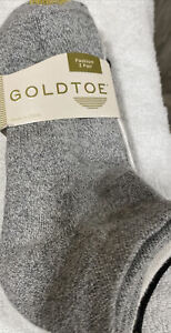 Gold Toe Women's Ultra Soft ankle Quarter Casuals Socks, 3 Pair, NWT