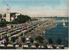 Vieja postal-Grado-playa-colorierte mapa