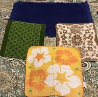 Vintage Cannon Terry Washcloths Hand Towel Lot (4) #L111 Some Issues