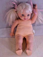 "Mattel Cuddly Baby Doll Kelly 1994 Soft Body 16"" Washable No Clothes TM / 1994"