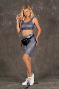MERRIBEL 188 Luxury Super Soft Decorative Gym / Sports Top and Matching Shorts