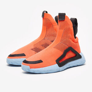 Adidas N3XT L3V3L Primeknit Basketball Shoes Athletic 14-16 Coral Orange-Black