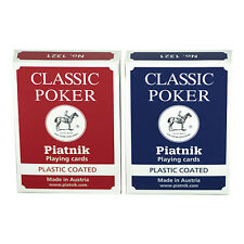 DOUBLE DECK PLAYING CARDS CLASSIC POKER BY PIATNIK 1321