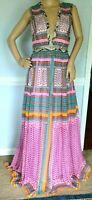 New Diane von Furstenberg DVF Lelani Zen Scarf Nieves Maxi Long Gown Dress US 8
