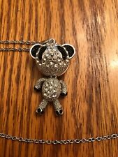 """ARTICULATED TEDDY BEAR PENDANT NECKLACE CHAIN 24"""""""