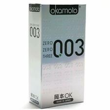 Okamoto 003 | Platinum Condoms 10 Pcs | Made In Japan | Ultra Thin | Lubricated