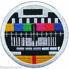 TV Television Color Bars Test Pattern Movie Cartoon Game Iron-On Patches #E002