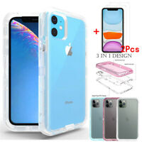 For iPhone 11 Pro Max Case Shockproof Hybrid Armor Phone Cover+Tempered Glass
