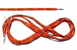 Shoe Laces (Orange) With Nike Just Do It Unisex