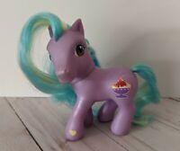 My Little Pony Banana Split Sundae G3 Purple Blue Pony Figure Hasbro 2002