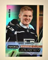 2020-21 UD Synergy Rookie Journey Draft #RJ-MA Mikey Anderson RC /999