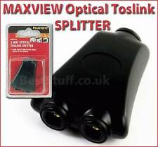 Maxview SPLITTER OTTICO TOSLINK per audio DIGITALE divide il segnale 1 a 2 ouputs