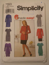 S-7763 Dress Tunic Skirt Sewing Pattern Simplicity Plus Size 14-16-18 Uncut