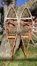 Pair Of Vintage TUBBS Maine Snow Shoes Log Cabin Home Decor Display Restaurant