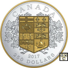 2017 $250 FINE SILVER COIN THE FIRST CANADIAN GOLD COIN (18149)(NT)