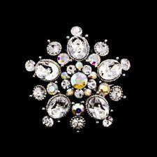 Handmade 3.5cm Swarovski Elements Vintage Bridal Crystal Brooch 01C