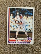 +++ DAVE WINFIELD 1982 TOPPS BASEBALL CARD #600 - NEW YORK YANKEES +++