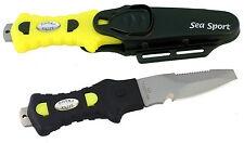 """Compact Knife - 3"""" blunt edge, with yellow handle"""