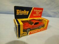 Vintage Dinky Toys 211 Red Triumph TR7 Sports Car Diecast  Car Toy