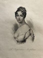 Joséphine de Beauharnais  (1764-1814) estampe de 1884 XIXème  impératrice